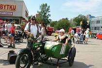 Do Kopřivnicedorazil v rámci rallye i Jiří Kratochvíl z Přerova na anglickém stroji BSA se sajdkárou, který byl vyrobený v roce 1924.