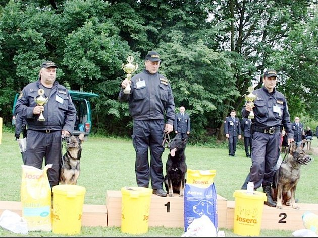 Policejní psi nechytají jenom zloděje. Účastní se také kynologických soutěží, ze kterých si odvážejí cenná vítězství i zkušenosti.