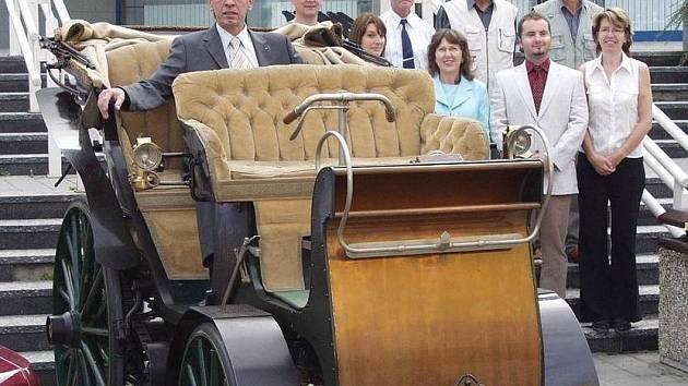 Replika prvního automobilu C.K. rakouského mocnářství.
