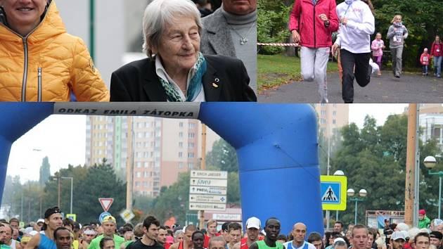 BĚH rodným krajem Emila Zátopka, jehož součástí byly i závody dětí, startovala společně s Danou Zátopkovou také atletka a kopřivnická rodačka Lenka Masná.