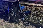 K vážné dopravní nehodě došlo v úterý 5. ledna u dálničního sjezdu z dálnice D1 u Hladkých Životic.