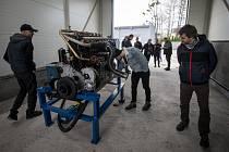 Start motoru Slovenské strely po 60 letech, 28. listopadu 2019 v Kopřivnici.