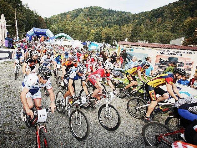 V Klokočůvku u Oder se letos konal jubilejní 10. ročník závodu horských kol, Oderská mlýnice České spořitelny.