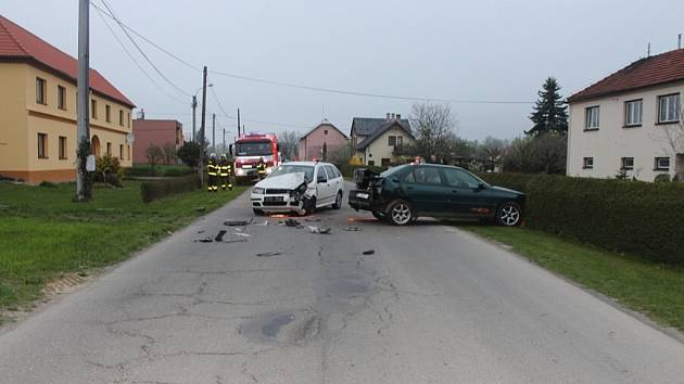 Nehoda v Jeseníku nad Odrou.
