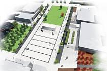 Vizualizace budoucí podoby centra Kopřivnice.