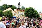 Gigantické Štramberské ucho se peklo o první červnové sobotě odpoledne.  Foto: Deník/Adam Knesl