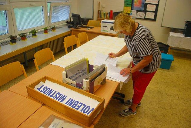 Přípravy na parlamentní volby v Novém Jičíně, čtvrtek 19. října 2017.