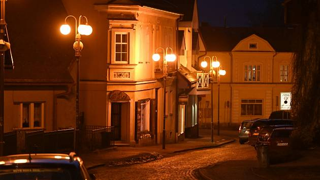 Podvečerní procházka městem Frenštát pod Radhoštěm ve středu 24. února 2021.