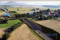 Takto má vypadat průjezd Prchalovem, místní částí Příbora, po dostavbě obchvatu Skotnice.