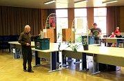 Volební místnosti číslo 5 a 10, jež se nacházejí v přízemí krajské hygienické stanice v Novém Jičíně.
