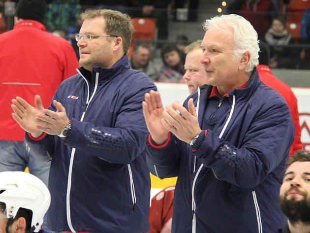 Už bývalá kopřivnická trenérská dvojice Václav Slabý, Jiří Malík (zleva).