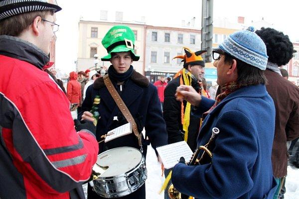 Masopustní rej a poté iprůvod se uskutečnil vúterý 12.února vPříboře.