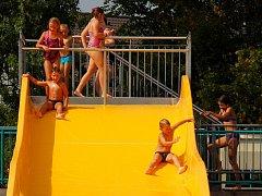 Závěr sezony na letním koupališti ve Frenštátě pod Radhoštěm.