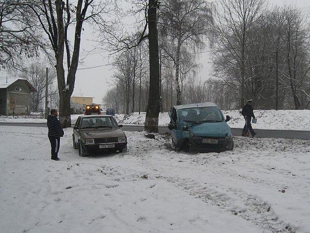 První nehodu letošního roku policisté zaznamenali na výjezdu z Příbora směrem na Kopřivnici.