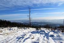 Slunečné počasí v poslední lednovou neděli lákalo k výletům - třeba na kopec Trojačku.