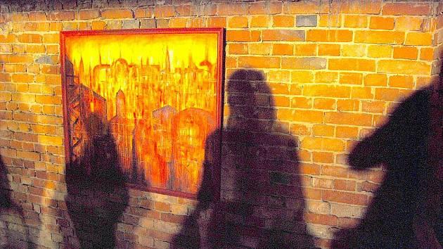 Výstava obrazů Davida Hanzelky se uskutečnika na netradičním místě, ve studéneckém bunkru.