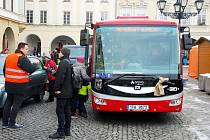 Projet se elektrobusem mohly už minulý týden děti z novojičínských mateřinek v rámci akce Den s Mikulášem.