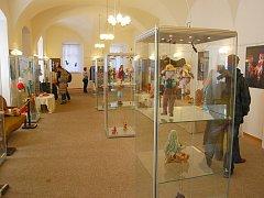 V piaristickém kláštěře, kde byly vystaven i loutky příborských a novojičínských amatérských loutkařů.