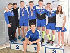 Plavecké naděje Nového Jičína získaly na mistrovství ČR čtrnáctiletého žactva v Prostějově celkem pět cenných kovů.