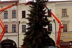 Vánoční strom v Novém Jičíně.