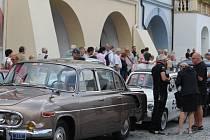 Jednou ze zastávek 17. ročníku Beskyd Rallye Turzovka bylo i novojičínské Masarykovo náměstí.