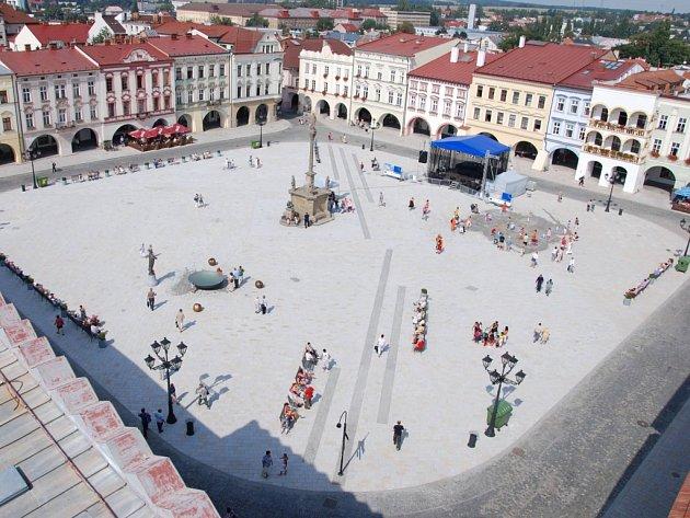 Oceněné náměstí v Novém Jičíně. Ilustrační foto.