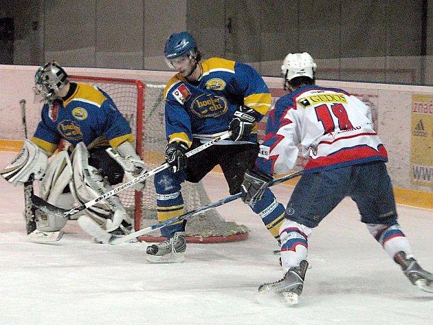 Hokejisté Kopřivnice si mohli ziskem bodu na ledě Nového Jičína zajistit vítězství v krajské lize a účast v kvalifikaci o baráž o II. ligu.