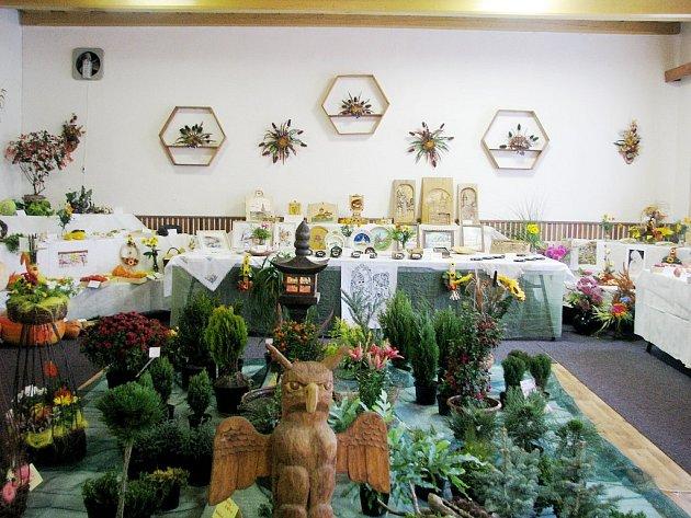 Botanické umění členů Českého zahrádkářského svazu v Tiché mohli návštěvníci shlédnout v Domě zahrádkářů.