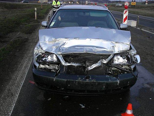 Zdemolované vozidlo Slováků.