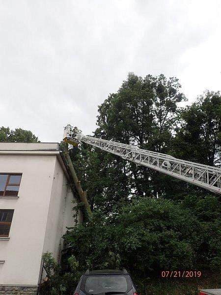 Zásah hasičů v Příboře.