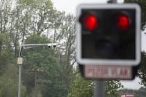 Kamery na železničním přejezdu - ilustrační foto.