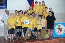 Plavci Klubu vodních sportů Laguna Nový Jičín zcela ovládli před vlastním publikem finále národní soutěže Liga mládeže ČR 2007 v plavání s ploutvemi.