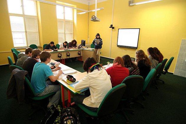 Modernizované učebny v Gymnáziu Mikuláše Koperníka v Bílovci.