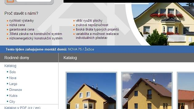 Webové stránky RD Rýmařov.