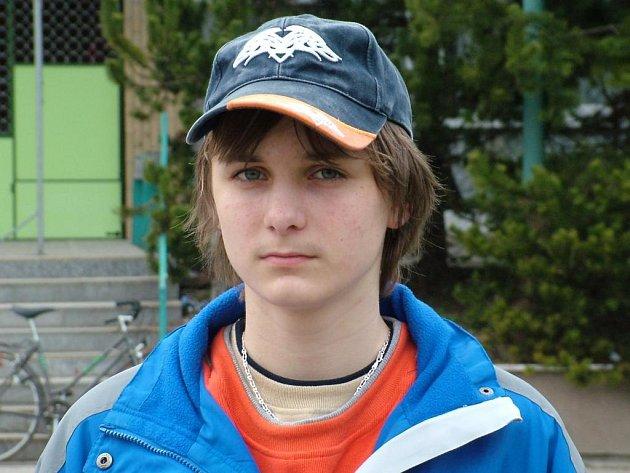 Patnáctiletý Robin Suchánek.