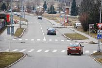 Křižovatka na ulici Palackého, na které vznikne nový rondel.