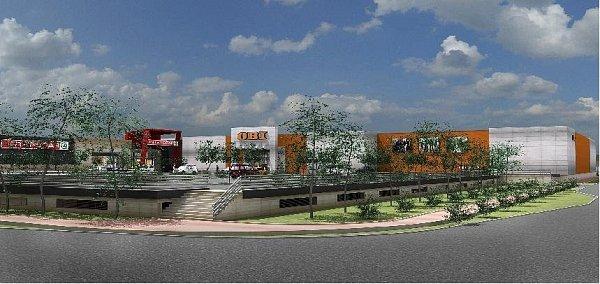 Vizualizace nového obchodního centra Tabačky vNovém Jičíně