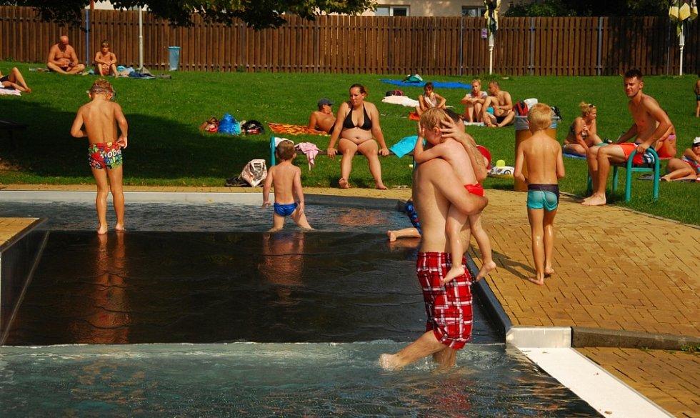 Letní koupaliště ve Frenštátě pod Radhoštěm.