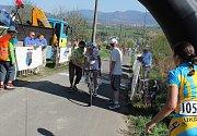 """Cíl třetí, takzvaní """"Královské"""" etapy cyklistického závodu Gracia – Orlová 2012 byl v sobotu 28. dubna na kopci pod mysliveckou chatou v Lichnově. Nejlépe si s náročnou tratí poradila Trixi Worrack."""