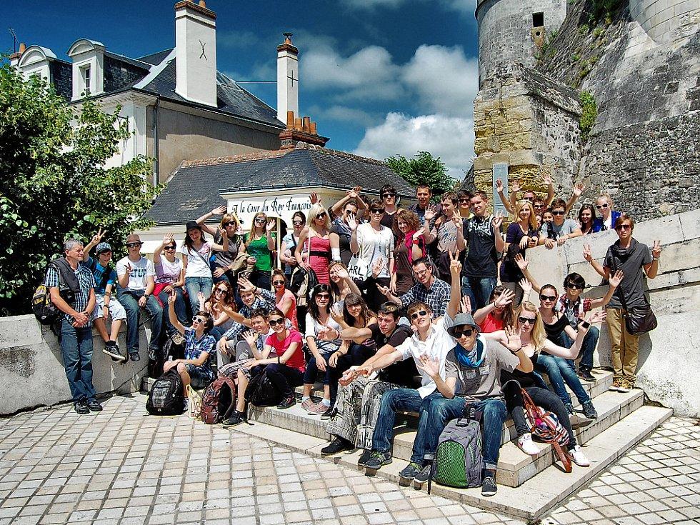 Fotografie ze zámku Amboise.