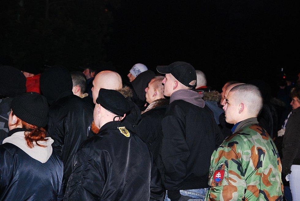Protest Dělnické strany v Kopřivnici.