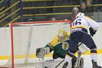 II. hokejová liga, sk. Východ, 39. kolo HC Kopřivnice – VHK Vsetín 1:5 (0:0, 1:3, 0:2)