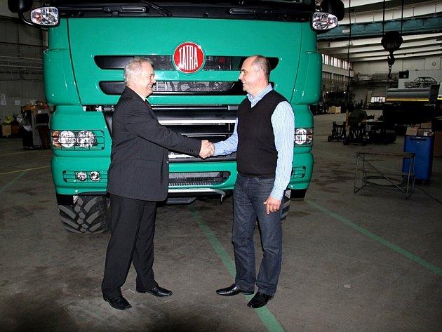 Noví vlastníci kopřivnické automobilky René Matera (vlevo) a Jaroslav Strnad.