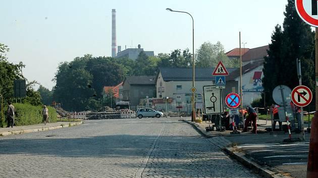 Rekonstrukce ulice Štefánikovy v Kopřivnici.