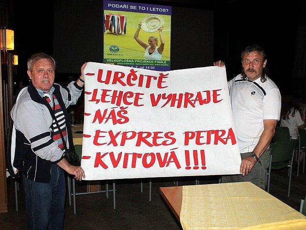 Petře Kvitové přišly v sobotu do sálu fulneckého městského kulturního střediska fandit desítky lidí.