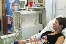 Pacientka během procedury.