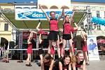 Sportovní klub Cheerleaders uvítal obyvatele, kteří se přišli podívat na naši akci Den s Deníkem.