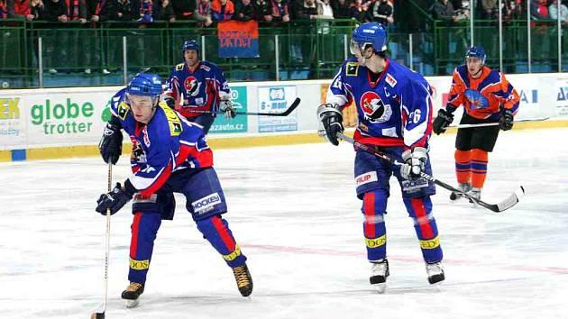 Dva body vybojovali novojičínští hokejisté po výhře nad Valašským Meziříčím, po samostatných nájezdech, v utkání 26. kola II. ligy, skupiny Východ. Ilustrační foto.