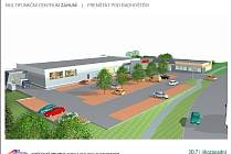Vizualizace možného budoucího centra ve Vávrově ulici ve Frenštátě pod Radhoštěm.