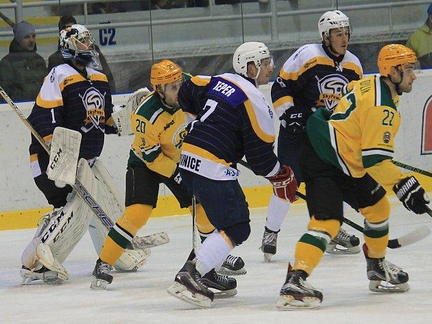 Kopřivničtí hokejisté trápili lídra ze Vsetína, ale nakonec nebrali ani bod. Ilustrační foto.